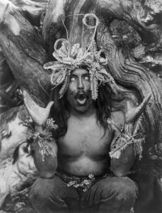 A Hamatsa shaman in trance.